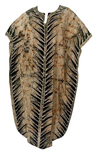 Cotton Batik Caftan Dress - 8