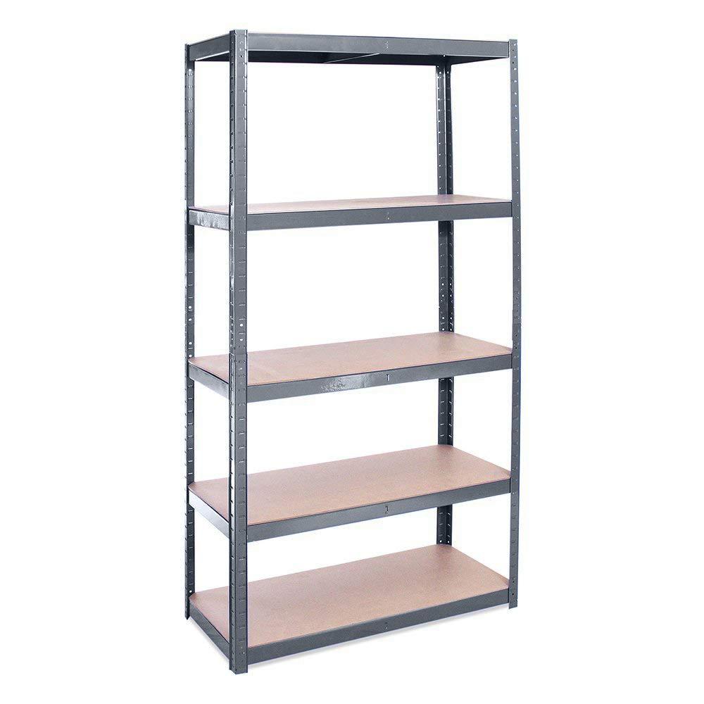 Estanterí a metá lica de almacenamiento industrial resistente con 5 estantes- Pack individual - ideal para almacé n, garaje, trastero, só tano - 180cm x 90cm x 40cm sótano - 180cm x 90cm x 40cm Rhino Racking