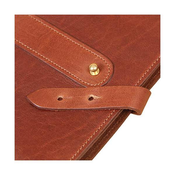 Travel-Leather-Portfolio-Folio-Notebook-Business-Folder-Small-Brown-Full-Grain-USA-Made-No-20