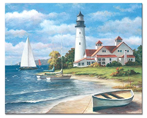 - CounterArt 'Lighthouse Mural' Glass Cutting Board, 15 x 12
