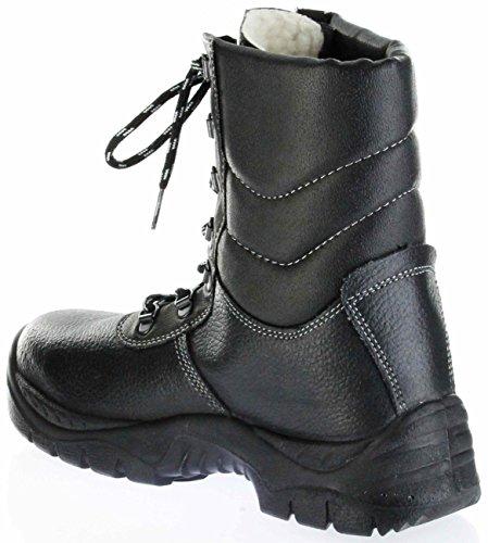 ALBAN 1970 Alba&n Sicherheitsstiefel Warm Schwarz S3 SRC Herren Arbeits-Schutz-Schuhe K52L Schwarz