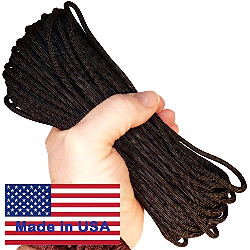 Paracord-Parachute-Cord-7-Strand-550-Lb-Break-Strength-Guaranteed-US-Made-Type-III-Military-Survival-550-Cord-25-colors-for-Bracelets-and-Projects-Includes-Two-eBooks