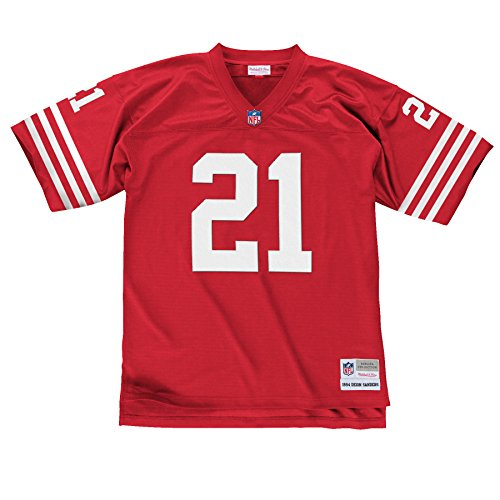 San Francisco 49ers Mitchell & Ness 1994 Deion Sanders #21 Replica Throwback Jersey (M)