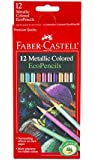 Faber-Castell 12 Count Metallic Colored EcoPencils