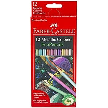Amazon.com: Faber-Castell 12 Count Metallic Colored EcoPencils ...