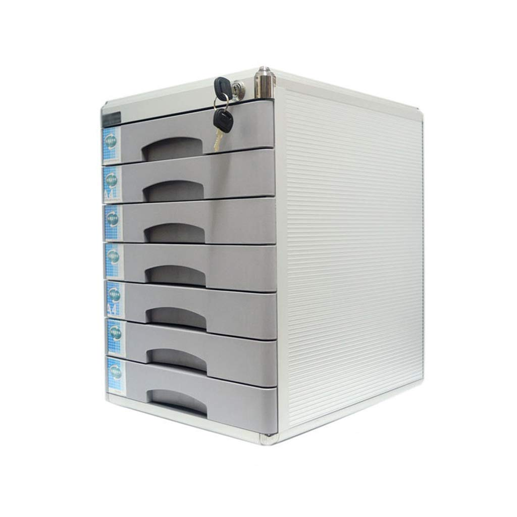7 Layers Lockable Data Cabinet, Desktop File Cabinet with Drawer File Storage Cabinet Office Supplies Portable and Tidy Storage Box (Size : 7-Layers)