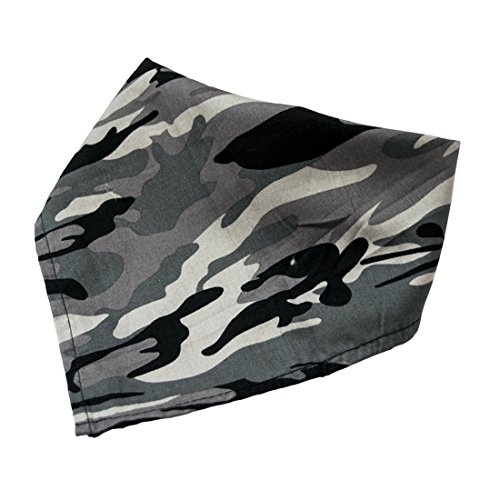Dog Bandana Scarf Pet Neckerchief For Small And Medium Sized Dogs by Hide & Drink :: Black Army (Homemade Cat Costumes)