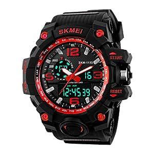 Skmei Reloj Hombre Digital Analógico Militar Deportivo Al Aire Libre Reloj Grande Color de Negro y