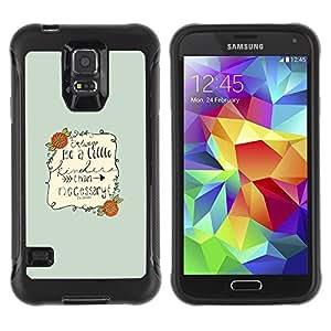 Paccase / Suave TPU GEL Caso Carcasa de Protección Funda para - Barrie Writer Quote Be Nice Motivational - Samsung Galaxy S5 SM-G900