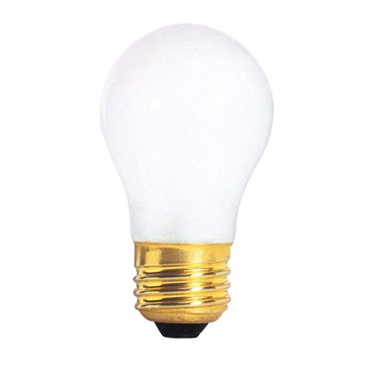 HC Lighting - 120-130V 15W Line Voltage Frosted Appliance and Household A15 Style Incandescent Light bulb (10/PK) (15 Watt)