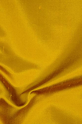 Yellow Gold Italian Shantung Silk Fabric