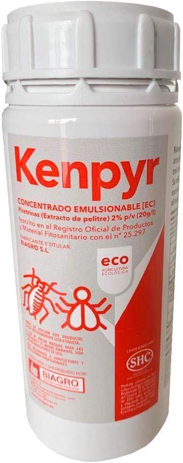 CULTIVERS Kenphyr, Piretrinas Naturales insecticida ecológico de 200 ml. Apto para el Control de la Mosca Blanca, Trips, pulgones, cochinillas, orugas, escarabajos y Otros Tipos de Insectos y ácaros