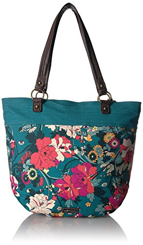 Sakroots Kai Tote, Teal Flower Power , One Size