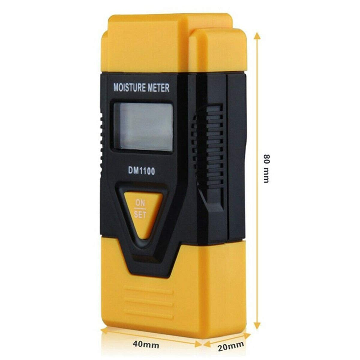 Jinxuny 3-in-1 Moisture Meter Digital LCD Damp Moisture Meter Tester Compact Size Portable for Wood Timber Plaster Logs Thermometer