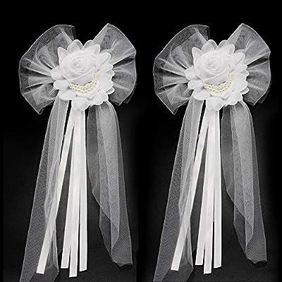 Junxia Pearl Bud Silk Ribbon Flower For Wedding Party Decoration