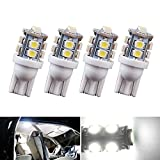 Automotive : YITAMOTOR 4 X T10 Wedge 10-SMD LED White Light bulbs W5W 2825 158 192 168 194, 12V Car Interior Lighting For Map Dome Lamp Trunk Dashboard Parking Lights