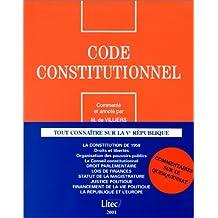 CODE CONSTITUTIONNEL 2001
