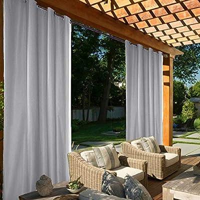 Cortinas impermeables al aire libre, cortina de pérgola para interiores y exteriores, cortina opaca con ojales plateados, cortinas térmicas aisladas térmicas para jardín, patio, Gazebo, 4 piezas (54 x 84 pulgadas, azul