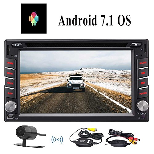Latest 2018 Double 2Din Car Stereo Receiver Android 7.1 Autoradio 6.2