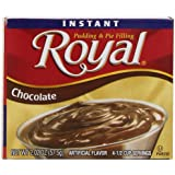 Royal Instant Pudding, Chocolate, 2-Ounce (Pack of 12)