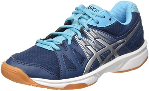 Asics Gel-Upcourt W, Chaussures de Volleyball Femme Multicolore (Poseidon/Silver/Aquarium)