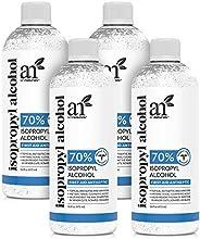 Artnaturals Rubbing Isopropyl Alcohol - 70% Pure – 16 oz. (Pack of 4) - Made in USA - Industrial Grade IPA Con