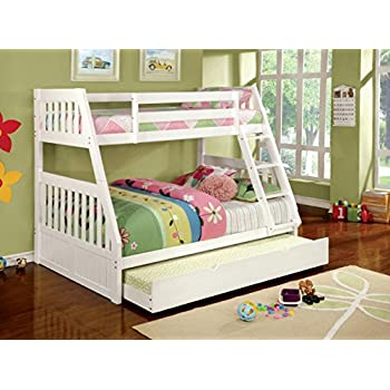furniture of america garvey twinfull bunk bed white