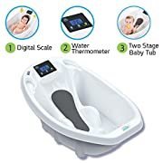 Aquascale Digital Scale & Thermometer 3-in-1 Infant Tub in White by Baby Patent