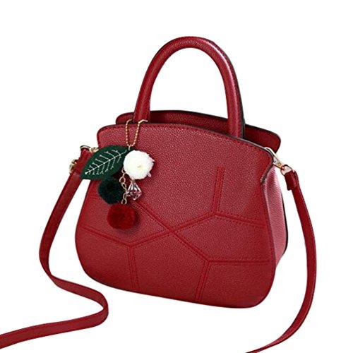 Bandoulière Sac Rouge Vin Bag Pendentif Avec Pu Mode Femme Épaule En Baymate Messenger À Retro Cuir TYw1n8q