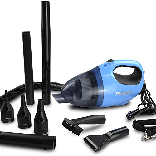 Car Vacuum Cleaner ,PHISINC 9 in 1 Handheld 9 in 1 Blower Cleaner 12V 100W Dust Buster Handy Vac with 5.0M Power Cord Review