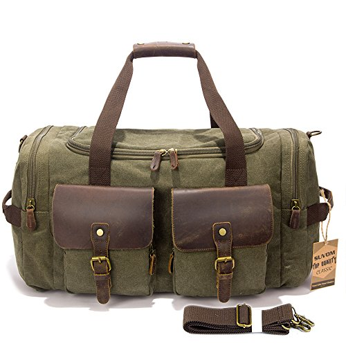 SUVOM Leather Weekend Overnight Luggage product image