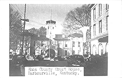 Barbourville Kentucky Knox County Court House Real Photo Postcard V9941