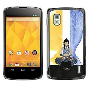LECELL--Funda protectora / Cubierta / Piel For LG Nexus 4 E960 -- Korra --