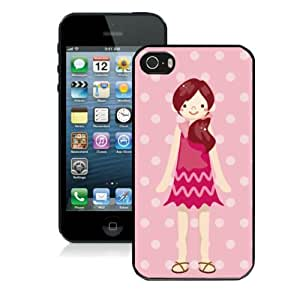 Custom Iphone 5 Case Apple Iphone 5s Cover for Girl Cartoon Characters Design