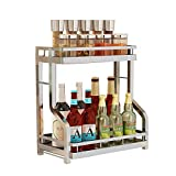 2-Storey Kitchen Counter Storage Rack for Seasoning Tank Storage, Can Be Used in The Bathroom 35.5×19×28.5cm