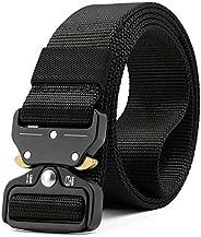 Belletek Tactical Belt for Men & Women, Military Style Nylon Web Belt with Heavy-Duty Quick-Release Metal