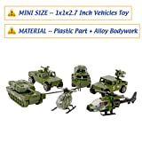 Nunkitoy Die-cast Military Vehicles,6 Pack Assorted