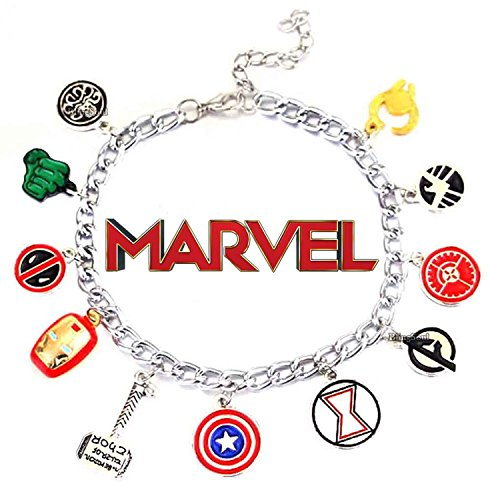 Marvel Avengers Bracelet Thor Captain America Gifts - Avengers Jewelry for (Female Thor Cosplay)