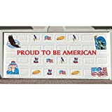 33pc Patriotic USA American Garage Door Magnets Decal Set Decorations July 4th