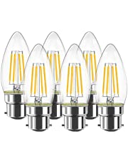 Bonlux 6W Dimmable Ba15d Double Contact Bayonet Base LED Bulb 50W T4 Halogen Replacement Bulb for Chandelier Crystal Ceiling Lamp Light, 120V Warm