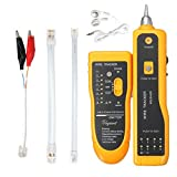 DricDoda Multifunction Wire Tracer, Professional RJ45 RJ11 Handheld Cable Locator Line Finder Cable Tester with Tool Kit for Network Cable Collation, Telephone Line Test, Continuity Checking