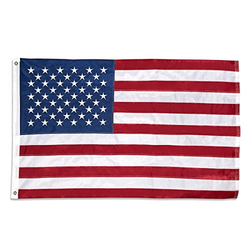 Juvale Standard Size American Flag - US Banner Flag - Embroidered Stars, 3x5 Foot Flag with -