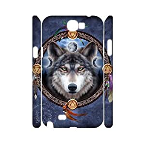 Unique Design Protective Hard 3D Plastic Case for Samsung Galaxy Note 2 N7100 - wolf cheap 3D case at CHXTT-C