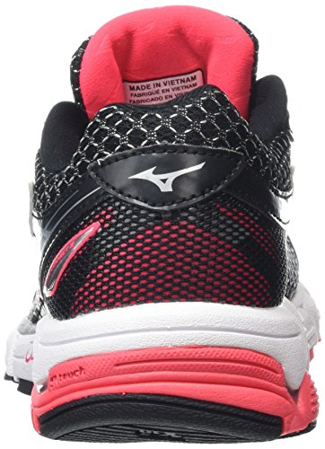 Mizuno 3 Diva Pink Shoes Black Black Running Silver Wave Connect Women's rqxZ6rH