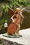 Fairy with Cello Garden Statuary