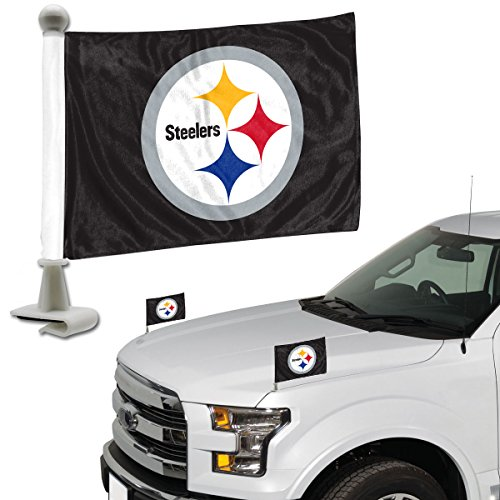 ProMark NFL Pittsburgh Steelers Flag Set 2Piece Ambassador Stylepittsburgh Steelers Flag Set 2Piece Ambassador Style, Team Color, One Size