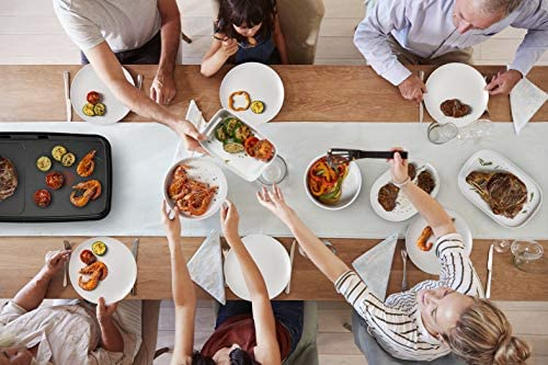 Tefal Plancha Booster Plancha électrique, 2200 W, 2 zones de cuisson, Thermostat réglable, Large surface de cuisson, Revêtement antiadhésif, Thermo-Spot, Bac jus compatible lave-vaisselle CB641810