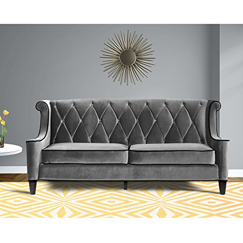 high class sofa beds sofas uk living barrister gray velvet black piping