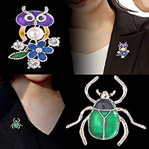 Bledyi Ladies Creative Butterfly Brooch Girl Retro Brooch Metal Brooch Suitable for Work/Shopping