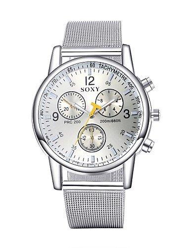 Auténtico marca el reloj suizo reloj para hombre tres segundos Placa Acero Niños/hombres resistente al agua Dial de 2 Color wh0028 a/W, White: Amazon.es: ...